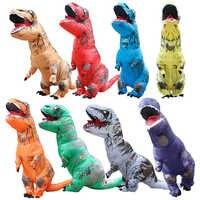 Costume gonflable de dinosaure t-rex deguisement halloween pour animaux costume de mascotte de cosplay dinosaure