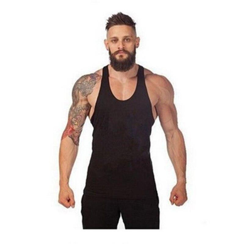 Marca Top Homens Tanque Parte Superior Do Tanque Longarina musculação  Aptidão Singlet camisa Sem Mangas Treino Man Undershirt Roupas mínimo ca657b2f1ef
