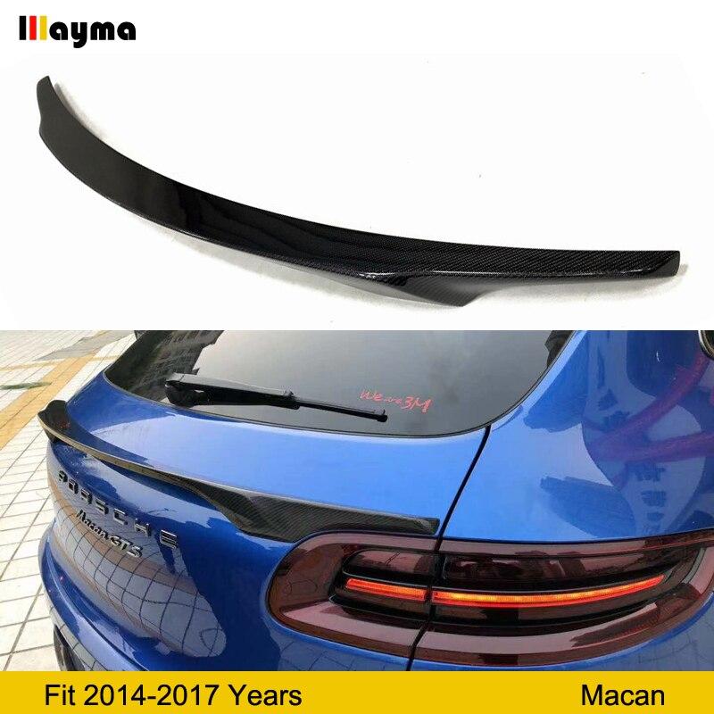 Aileron moyen en fiber de carbone pour Porsche Macan turbo GTS 2.0 t 3.0 t 3.6 t 2014-2017 an aileron de coffre arrière Macan FRP