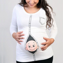 Dollplus New Pregnant Woman Breastfeeding Clothes Maternity Baby Peeking T Shirt Pregnancy Tee Expecting Mothers Tops Shirt