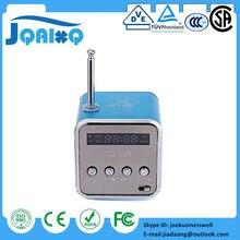 Caixa De Som Subwoofer de Mini Alto-falantes de Música Levou MP3 Player Speaker FM Estéreo de Rádio Portátil USB Micro SD TF Para PC Laptop TD-V26