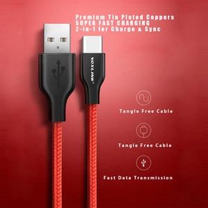Image 2 - VOXLINK USB Cable de tipo C para xiaomi redmi note 7 USB C móvil Teléfono de carga rápida tipo C Cable para Samsung Galaxy S9 S8 Plus