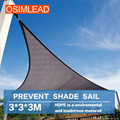 Keep out ultraviolet (uv) 95% OSIMLEAD 3.0*3.0*3.0m HDPE sun shade sail shade net