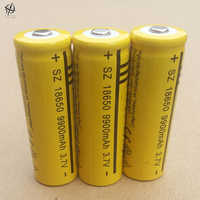DING LI SHI JIA 6 stücke 18650 3,7 v 9900 Hohe kapazität mah lithium-akku taschenlampe 18650 Li-Ion batterien 3,7 V