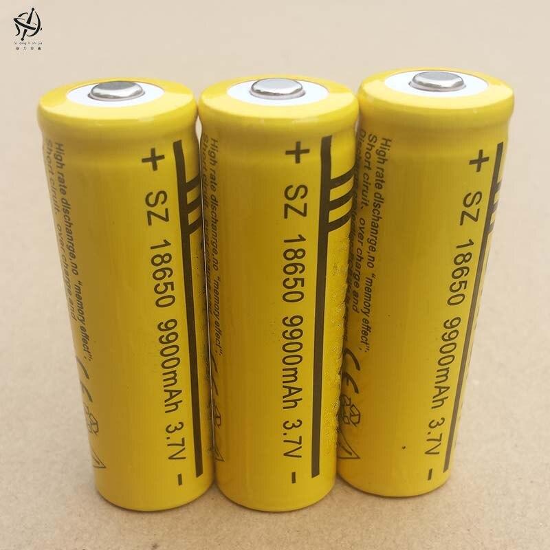 Ding li shi jia lanterna recarregável, pilhas de íon de lítio de 18650 3.7 v 9900 alta capacidade 18650 mah 3.7 v v
