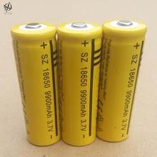 DING LI SHI JIA 6pcs 18650 3.7v 9900 High capacity mah rechargeable lithium battery flashlight 18650 Li-ion batteries 3.7 V цена