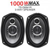 3 way 2pcs 6x9 Inch 1000W Car Coaxial Auto Audio Music Stereo Full Range Frequency Hifi Speakers Non destructive Installation