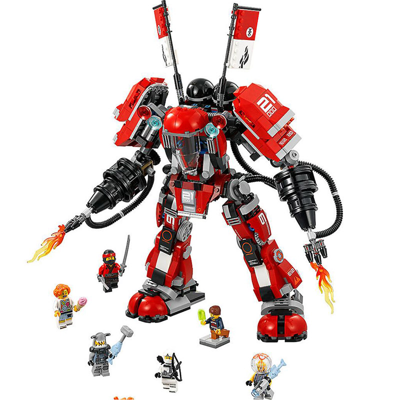 цены Bela 10720 Ninja Movie Series 70615 Fire Mech Masters of Spinjitzu Set Black Samurai 806Pcs Building Blocks Toys For Gift