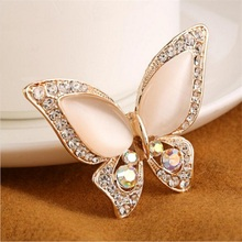 Wedding butterfly brooch for women