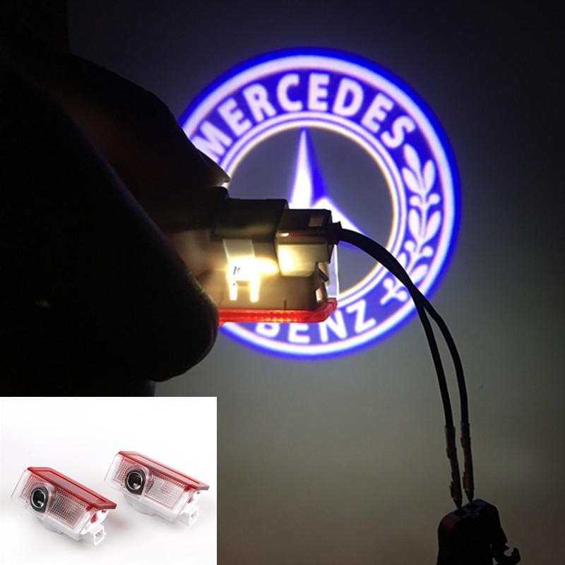 2pcs For Mercedes Benz W213 E Class W212 W166 W205 Led Car Door Logo Laser Projector
