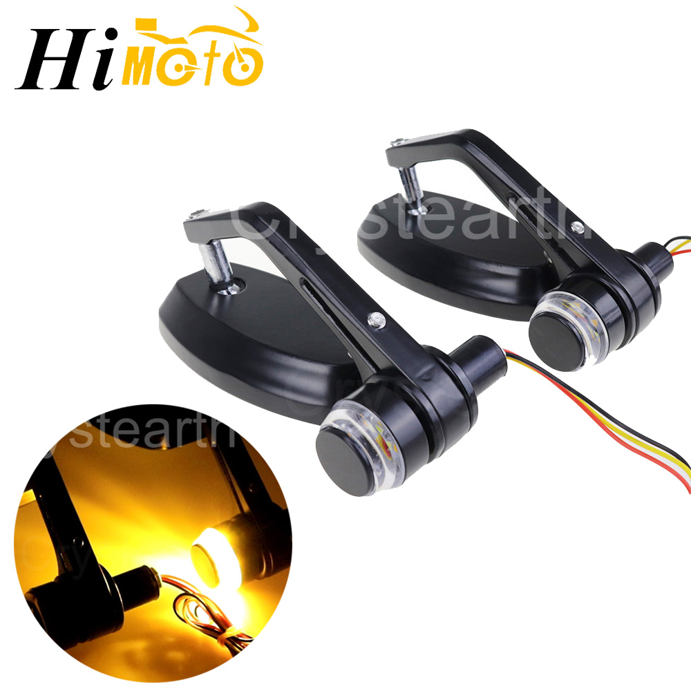 22mm 7/8 Universal Motorcycle Handlebar Bar End Rear View Side Mirrors With LED Turn Signals For Honda Yamaha SUZUKI Kawasaki22mm 7/8 Universal Motorcycle Handlebar Bar End Rear View Side Mirrors With LED Turn Signals For Honda Yamaha SUZUKI Kawasaki