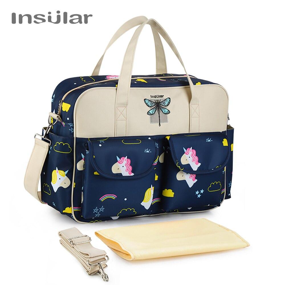 Insular Baby Nappy Bag Diaper Travel Bag Multifunction Mother Shoulder Bag Fashion Maternity Mummy Handbag Baby Bag For Stroller