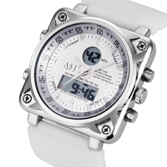 Top Marca de Luxo Relógio de Quartzo Dos Homens Do Esporte de Natação Relógio Mens Casual Digital LED Relógios Militar Do Exército de Borracha Masculino Relógios Presente