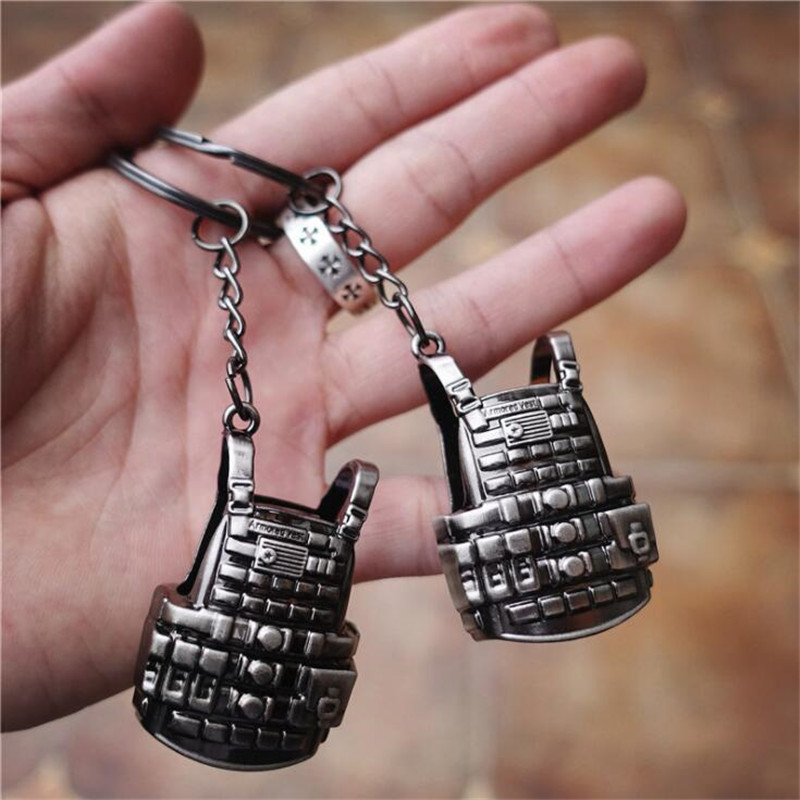 Game Pubg 3 Vest Military Body Armor Model Key Chain Keychain Playerunknowns Battlegrounds Cosplay Props Alloy Level High Safety Costume Props