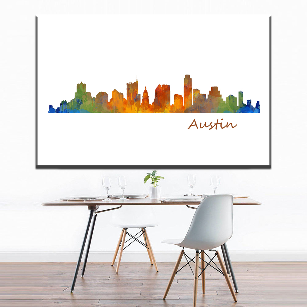 xh2660 modern canvas art austin texas skyline abstract canvas pictures for  living room bedroom decoration canvas. Online Get Cheap Austin Bedroom  Aliexpress com   Alibaba Group