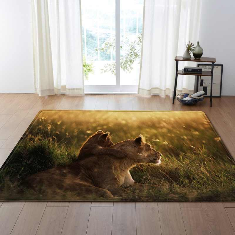 Drop Ship Dog Cat Animal Large Floor Carpets For Living Room Non Slip Area Rugs For Bedroom Sofa Carpet Alfombras Bedside Rugs