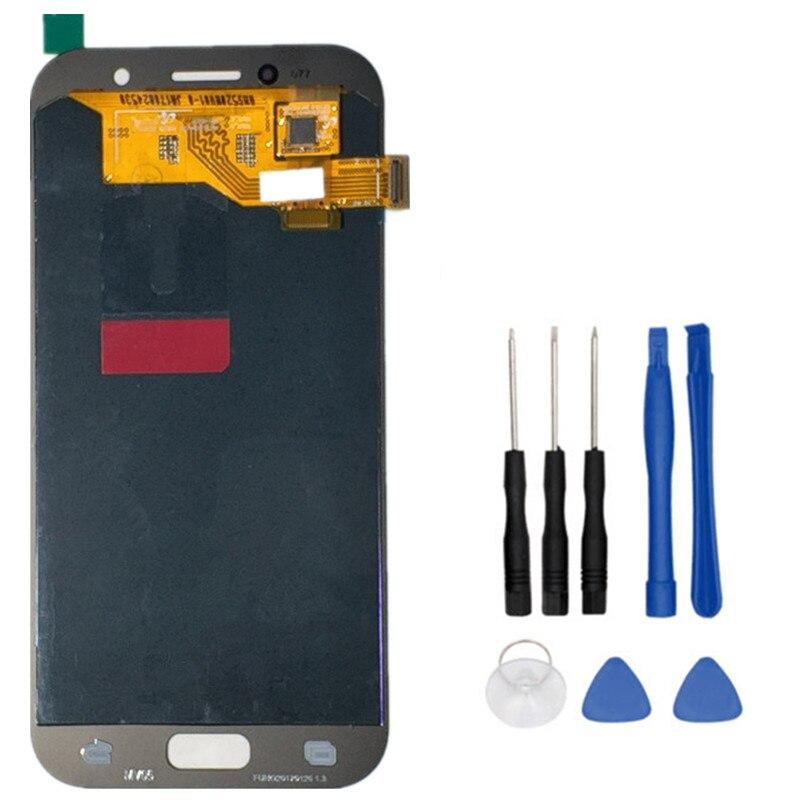 Haute qualité LCD Pour Samsung Galaxy A5 2017 A520 A520F A520F D'origine Amoled Écran lcd + Écran Tactile Digitizer Assemblée + outils