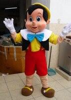 Карнавальный костюм высокое качество Пиноккио Маскоты костюм, взрослые Хэллоуин Необычные платья персонажа из мультфильма костюм, бесплат