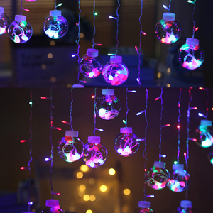 Image 5 - Led銅線スターカーテンストリングライトランプ屋外の結婚式のための妖精の照明クリスマス装飾220 220v euプラグキラキラ輝いて