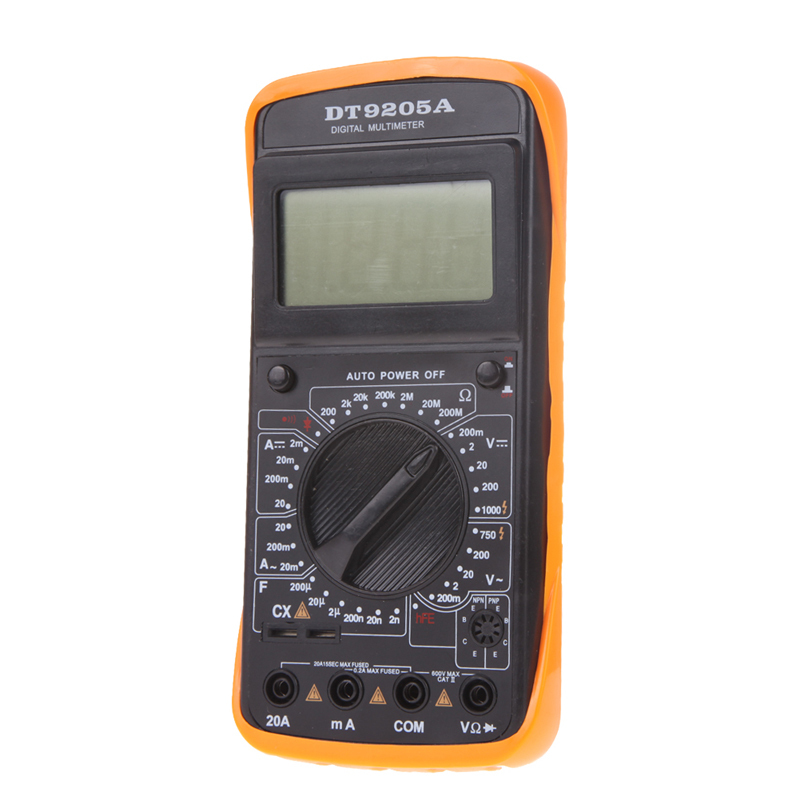 High Quality F 200mA 250V AC DC Digital LCD Display Professional Electric Handheld Tester Digital font