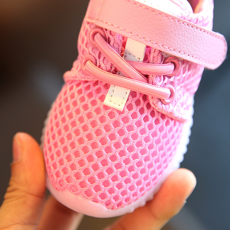 Spring And Summer New Children's Shoes Flying Weaving Stars Buty Led Sneakers  Light Shining