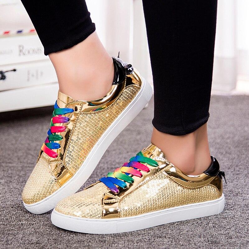 Begeistert Frauen Atmungs Zapatillas Schuhe Für Frauen Netzwerk Weichen Sportschuhe Mischfarben, Pailletten, Muffin Unten Funkelnden Mit Licht Verbraucher Zuerst