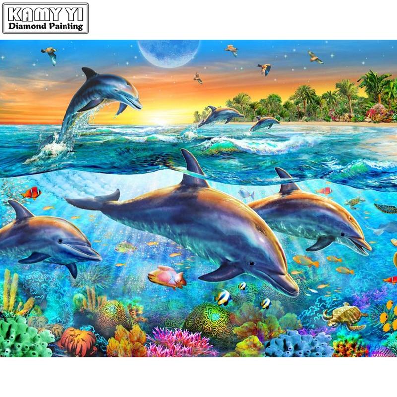 5d fai da te pieno quadrato/diamante rotondo pittura delfino animale del ricamo a punto croce di diamanti mosaico di decorazione della casa di arte della decorazione del regalo XY15d fai da te pieno quadrato/diamante rotondo pittura delfino animale del ricamo a punto croce di diamanti mosaico di decorazione della casa di arte della decorazione del regalo XY1