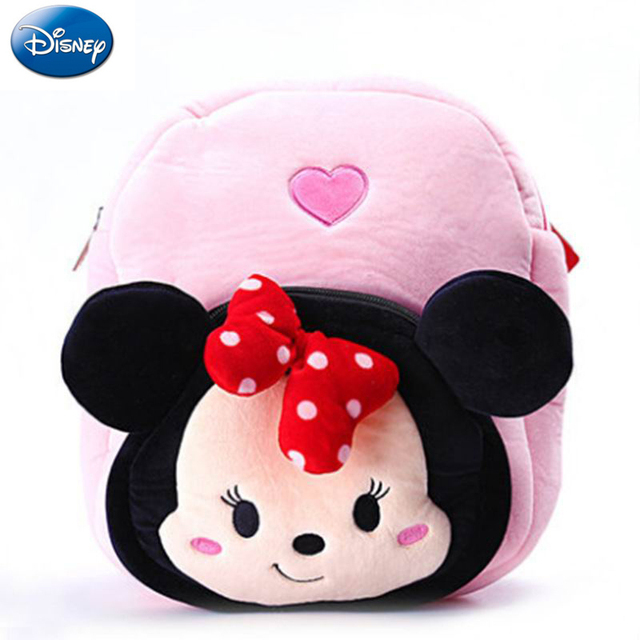 30 cm Disney Minnie Mouse Mickey Saco de Rato Mickey para As Crianças da escola Mochilas De Pelúcia Peluche Stuffed Dolls Meninas Saco De Marca brinquedos