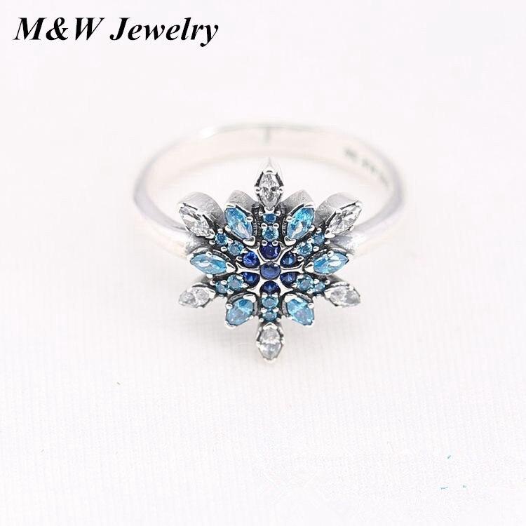 M & W Jewellery Аутентичные стерлингового серебра 925 3 Цвета Сияющий сердца принцесса эмаль Обручение кольцо для Для женщин Ювелирные украшения по...
