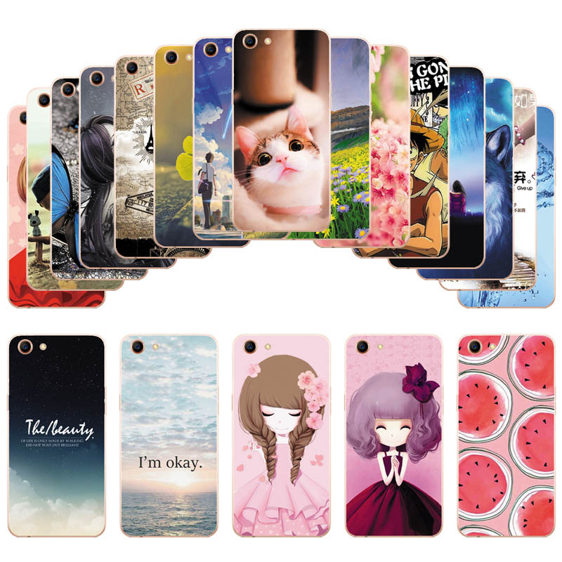 For OPPO A83 Silicone Soft Cover Cute
