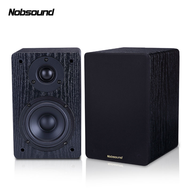 Nobsound NS-60S Wood 60W 1 Pair 4 inches Bookshelf Speakers 2.0 HiFi Column Sound Home Professional speaker