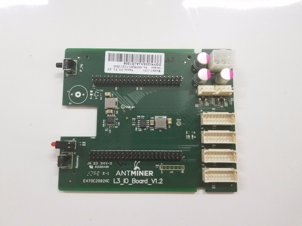 YUNHUI ANTMINER L3+ Control Board Include IO board And BB board For Replacement dashboard control board include io board and bb board bitcoin mining machine part for antminer l3 d repair parts