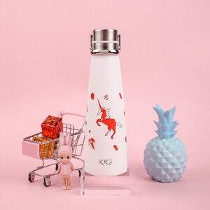 Image 4 - Youpin KKF בקבוק ואקום נייד תרמוס כוס נסיעות ספל 304 נירוסטה עם אבץ סגסוגת כף יד טבעת 3 דפוסים