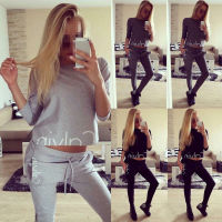 Fashion Women Set Tracksuit Hoodies Long Sleeve Sweatshirt Pants Sets Wear Casual Suit Size 6 14