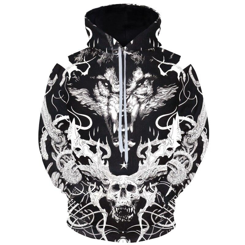 8XL 7XL 6XL Male 3D Hoodies Pullover Top Autumn Casual Men Heavenly horse Sweatshirt Clothe Long