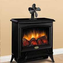 4 лопасти 203CFM дровяной печи Eco вентилятор плита своих тепла питание циркулирующих Камин Вентилятора дома гостиная зимние теплые аксессуары