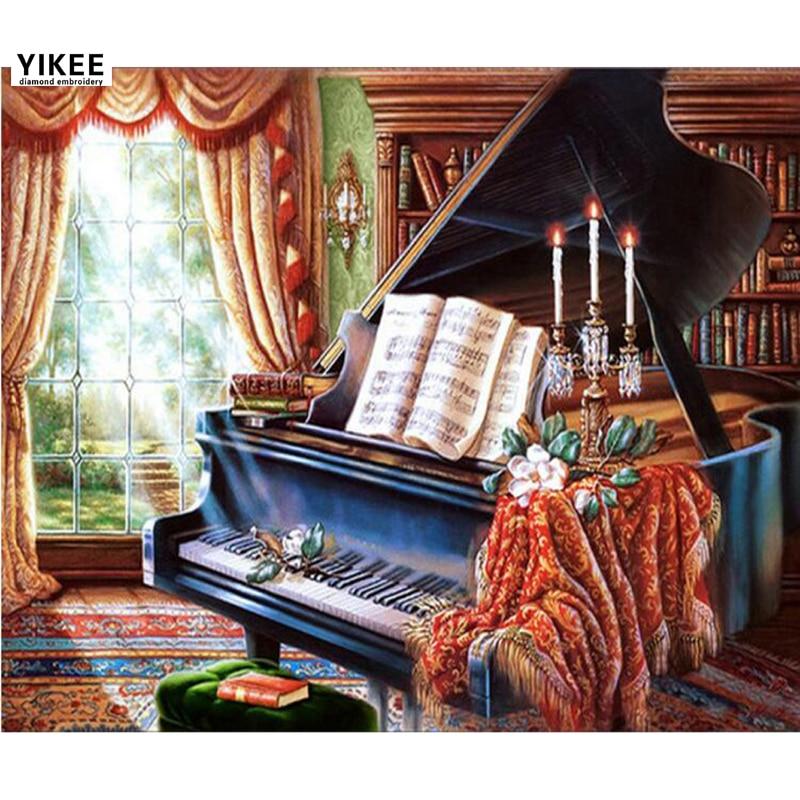 ma209 diy алмаздық кескіндеме пианино, - Өнер, қолөнер және тігін - фото 1