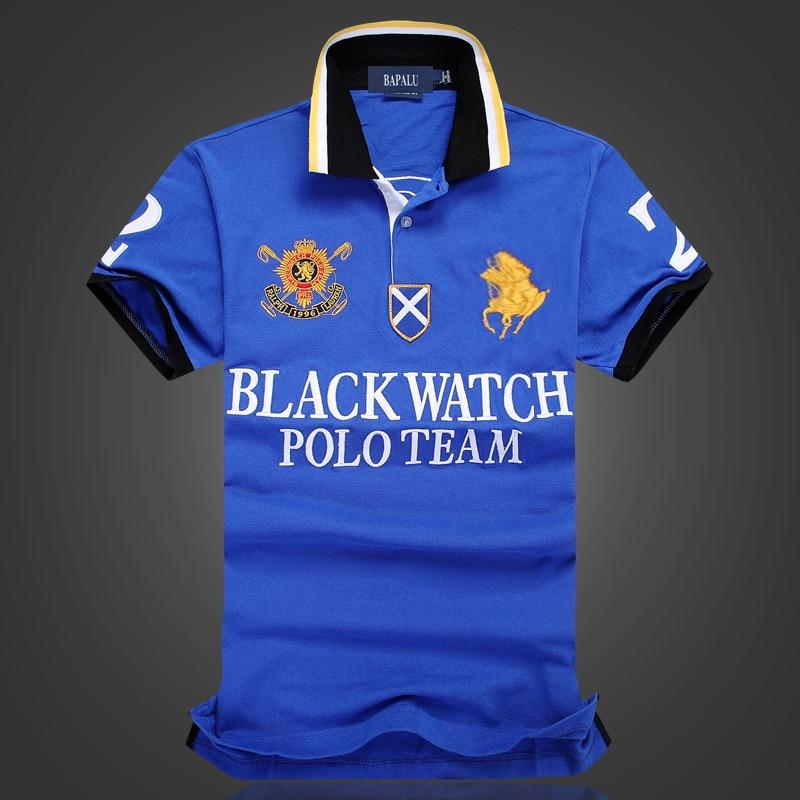 Men 2019 New Famous Brand   Polo   Shirts Cotton Anti-Pingling   Polo  -Shirts Embroidery Mens Poloshirts
