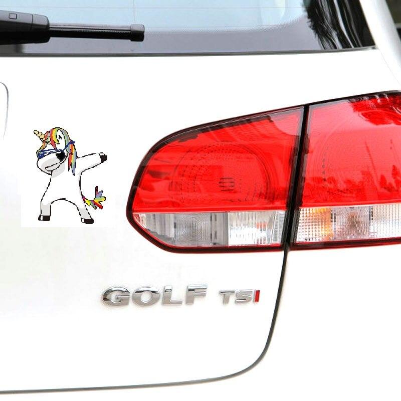 1 St Nieuwe Grappige Magische Deppen Paard Eenhoorn Veulen 2d Auto Sticker Waterdichte Sticker Auto Styling Venster Muur Laptop Voor Vm Toyota