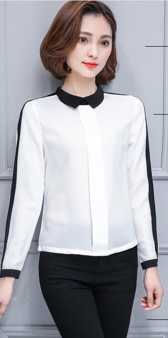 8c9f5b45882e10 Zarachiel Female Elegant Black White Hit Color Office Blouses ...
