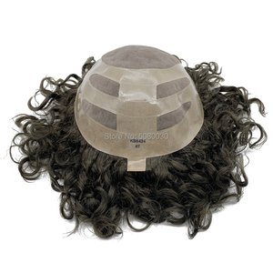 Image 2 - Human Hair Mens Hair Piece Toupee Replacement System Remy Hair Mono lace and Poly Bond