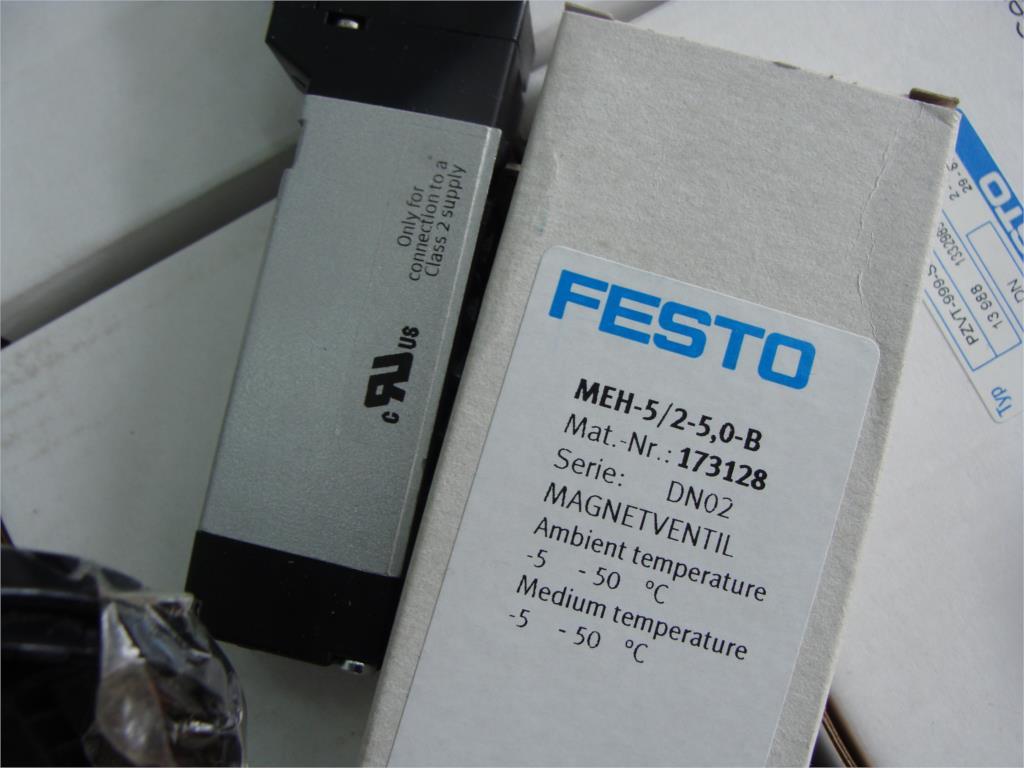 Brand new original solenoid valve MEH-5/2-5,0-B 173128 meh 3 2 1 8 b 173124 original authentic new and original festo solenoid valve