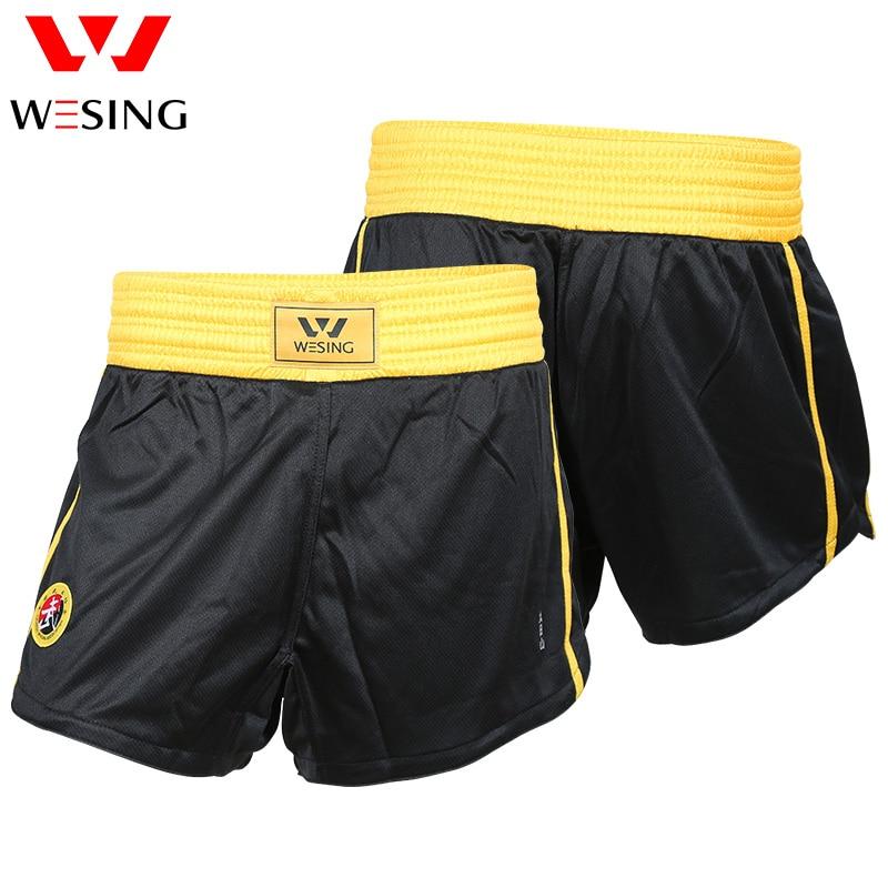 Wesing Kids Volwassenen Sanda Wushu MMA Boksen Muay Thai Shorts Vechtsporten Sparring Trunks Concurrentie Training Boxer Fightwear