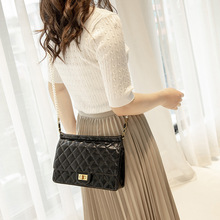 New 2019 Plaid pu leather Chain Bag Women Shoulder Bags Crossbody For Leather Messenger Small