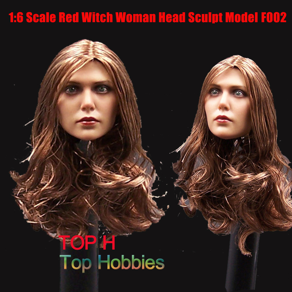 1/6 Head Sculpt Scale Accessories Scarlet Witch figure Captain America Elizabeth Olsen The Avengers F002 Figures Soldier Toy the scarlet letter