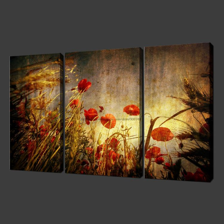 buy grunge poppies set of three quality