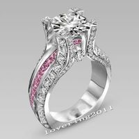 Victoria Wieck Luxury Jewelry 10KT White Gold Filled Round Cut AAA CZ Zirconia Wedding Women Engagement Ring for Lovers's Gift