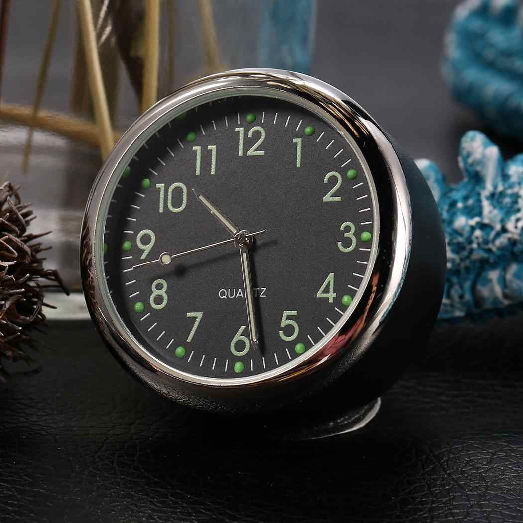 Luminous Car Clock Ornaments Auto Watch Mini Decoration Automotive Dashboard Time Display Clock In Car Accessories