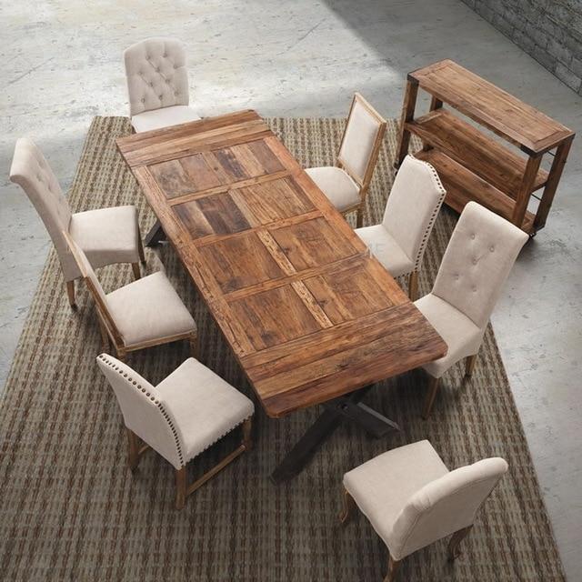 Europeos y americanos estilo pastoral madera comedor retro hierro ...