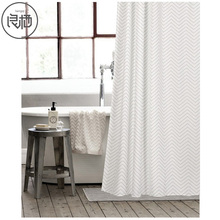 LIANGQI High quality printing shower curtain thick waterproof Nordic Japanese curtains bathroom door cloth home Decoration